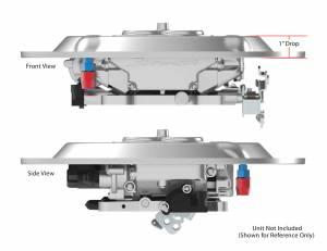 Holley Sniper EFI - Sniper EFI Air Cleaner Drop Base - Chrome - Image 4